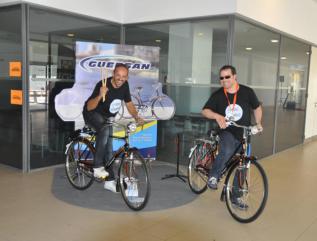 Hugo Danin e Sérgio Marques com a Guersan no Dia do Ritmo 2015